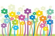 可爱花朵插图矢量图