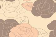玫瑰花朵图案矢量图设计
