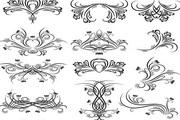 单线条花纹矢量设计模板
