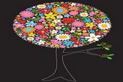 花卉圆点图案素材