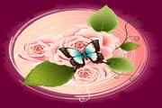 精美玫瑰花矢量图