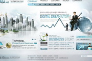 国外企业网站经典模板psd素材