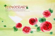 彩绘花卉背景图源文件