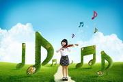 拉小提琴的女孩PSD