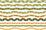 矢量彩色装饰彩带图