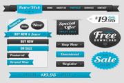 销售网页标签PSD素材