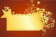 金色华丽花纹背景素材2