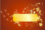 金色华丽花纹背景素材3