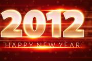 华丽璀璨的2012字体矢量素材