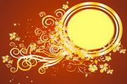 金色华丽花纹背景素材4