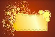 金色华丽花纹背景素材5