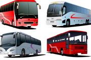 客车大巴巴士矢量图素材