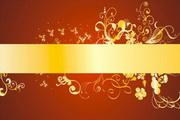 金色华丽花纹背景素材6