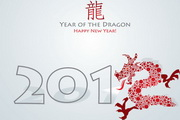 2012龙年贺卡矢量素材