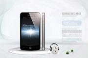 智能手机产品展示视图PSD
