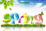 spring春季清新海报PSD模板