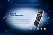 蓝色手机产品网...