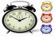 矢量闹钟钟表图