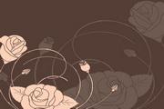 玫瑰花纹矢量背景图设计