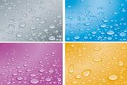 4款彩色水珠背景矢量图