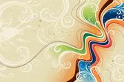 动感线条花纹矢量图