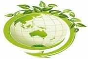 绿色叶子与地球矢量素材
