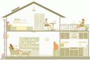简约建筑物插画矢量素材