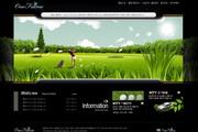 高尔夫主题网站PSD设计素材