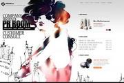 水墨美女化妆品网页设计PSD