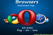 精致浏览器icons图标png矢量素材