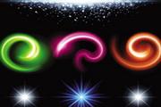 华丽璀璨的灯光光晕背景特效矢量素材03