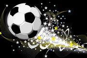 动感火焰足球矢量图