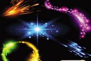 华丽璀璨的灯光光晕背景特效矢量素材01