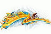 潮流自行车运动矢量素材