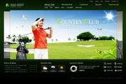高尔夫俱乐部PSD网页设计