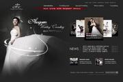 婚纱影楼网页布局设计PSD