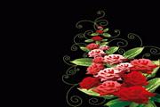 玫瑰花装饰矢量素材