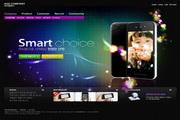 炫彩数码产品网页设计PSD