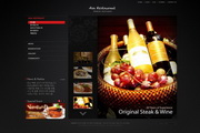 酒店美食网页模板PSD设计