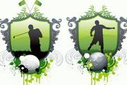 高尔夫与足球矢量素材