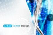 蓝色科技背景矢量图素材