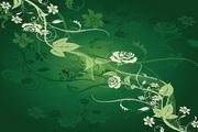 欧式古典线描花卉花纹传统纹样矢量图