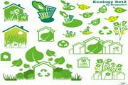 绿色环保主题矢量素材