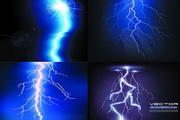 炫目强光闪电背景矢量素材