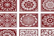 传统古代中式花纹样式矢量素材