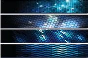 矢量现代科技背景banner图