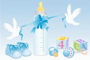 婴儿用品矢量素材