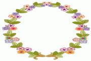 圆形花框矢量素材