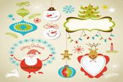 圣诞节和新年的矢量元素