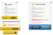 几款网站登录框...